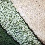 Green and Ecru dishcloth se..