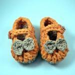 Crochet Baby Booties, mary ..